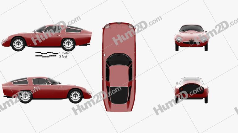 Alfa Romeo Giulia TZ (105) 1963 car clipart