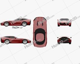 Alfa Romeo TZ3 Stradale 2011 Clipart