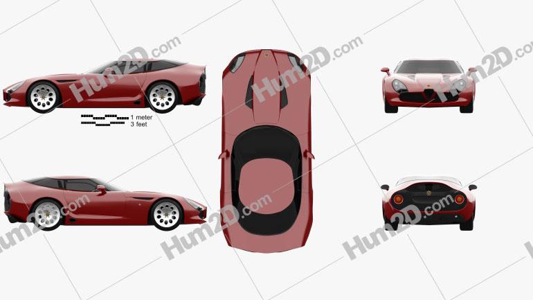 Alfa Romeo TZ3 Stradale 2011 Clipart Image
