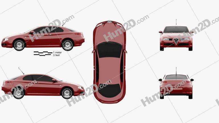Alfa Romeo GT 2004 Clipart Image