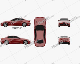 Alfa Romeo Giulia Quadrifoglio 2016 car clipart