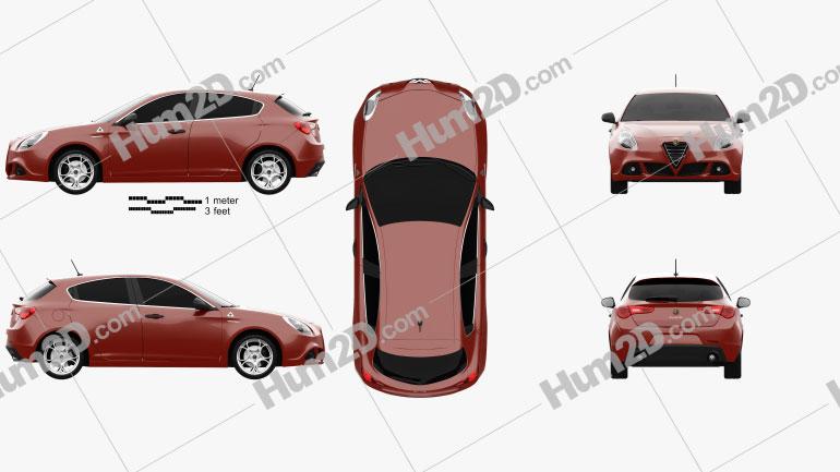 Alfa Romeo Giulietta Quadrifoglio Verde 2014 car clipart