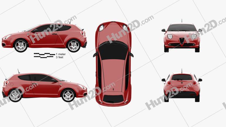 Alfa Romeo MiTo Quadrifoglio Verde 2014 car clipart