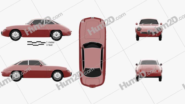 Alfa Romeo Giulietta 1960 car clipart
