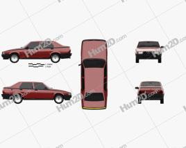 Alfa Romeo 75 1985 car clipart