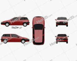 Alfa Romeo 145 1994 car clipart