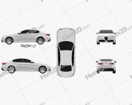 Alfa Romeo Giulia 2016 car clipart