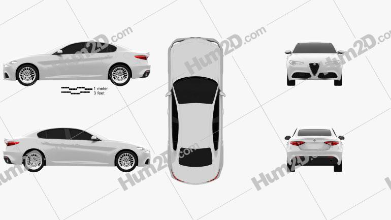 Alfa Romeo Giulia 2016 Clipart Image