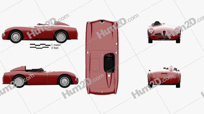 Alfa Romeo 6C 3000 PR Disco Volante 1953 car clipart
