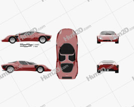 Alfa Romeo 33 Stradale 1967 Clipart