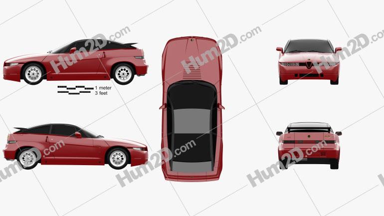 Alfa Romeo SZ 1989 car clipart