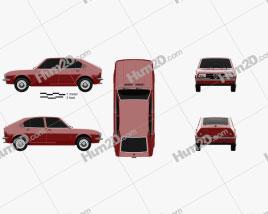Alfa Romeo Alfasud 1972 Clipart