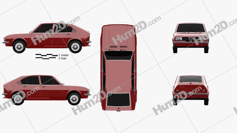 Alfa Romeo Alfasud 1972 car clipart