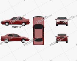 Alfa Romeo 155 1997 car clipart