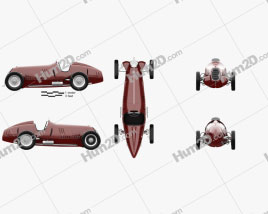 Alfa Romeo Tipo C 1936 car clipart