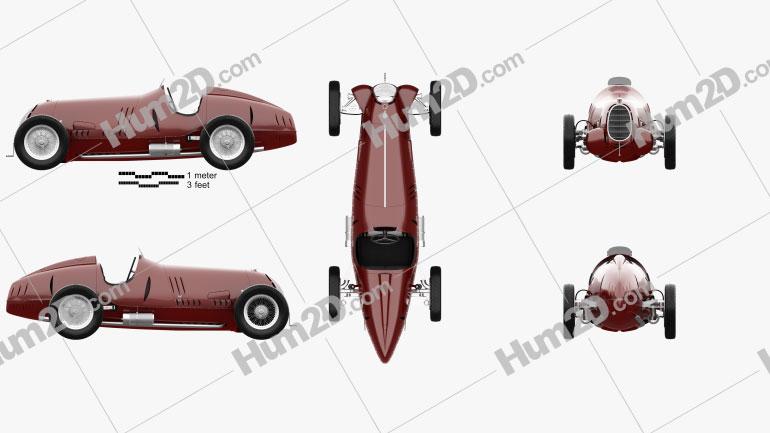 Alfa Romeo Tipo C 1936 Clipart Bild