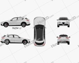 Alfa Romeo Stelvio Q4 with HQ interior 2017
