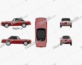 Alfa Romeo 2600 spider touring 1962 car clipart