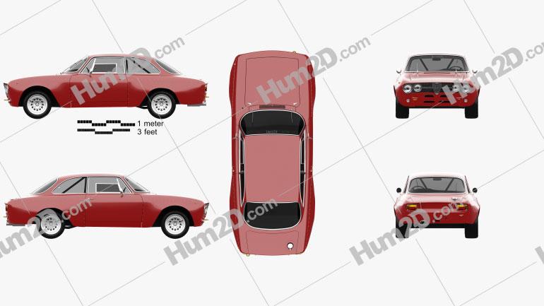 Alfa Romeo GTAm 1969 Clipart Image
