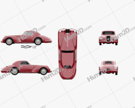 Alfa Romeo 6c 2500 Corsa Touring coupe 1939