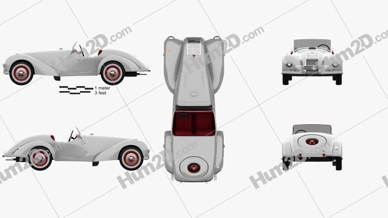 Allard K1 1946 car clipart