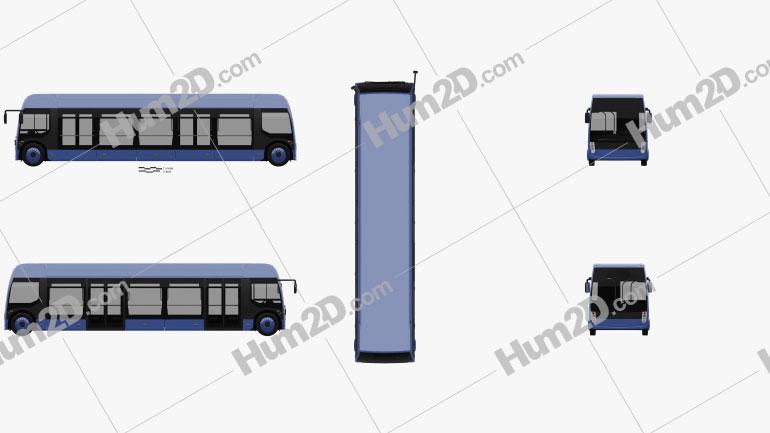 Alstom Aptis Bus 2019 clipart