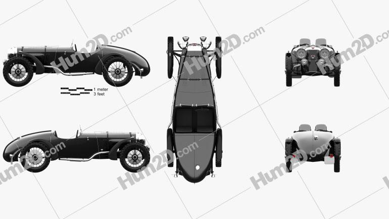 Alvis Speed 20 SB Sport 1934 car clipart