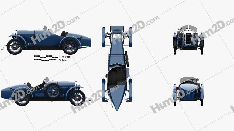 Amilcar CGSS 1926 car clipart
