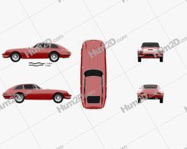 Apollo GT coupe 1965 car clipart