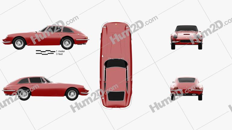 Apollo GT coupe 1965 Clipart Image