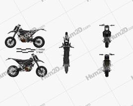 Aprilia SXV 550 2009 Motorcycle clipart