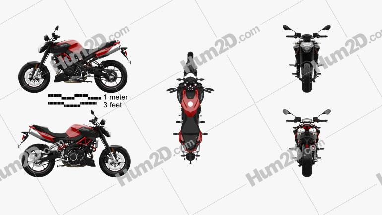 Aprilia Shiver 900 2020 Motorcycle clipart