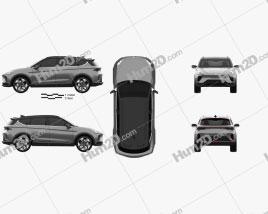 Arcfox a-T 2020 car clipart