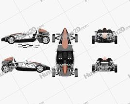 Ariel Atom 2012 Cute Race Car car clipart