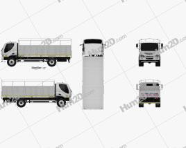 Ashok Leyland Boss Tipper Truck 2015 clipart