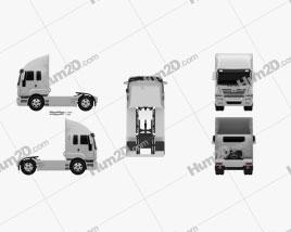 Ashok Leyland Newgen Tractor Truck 2015 clipart