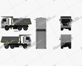 Ashok Leyland U-2523 T Tipper Truck 2012 clipart