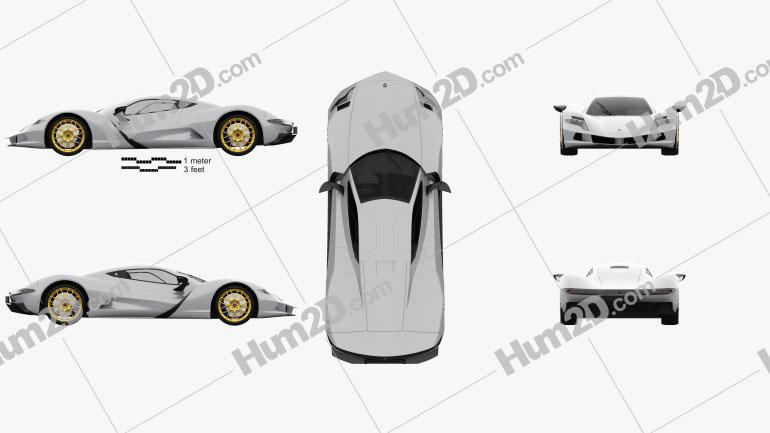 Aspark Owl 2020 car clipart