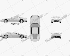 Aston Martin DBS 2010 car clipart