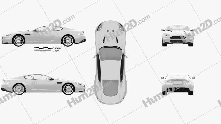 Aston Martin DBS 2010 Imagem Clipart