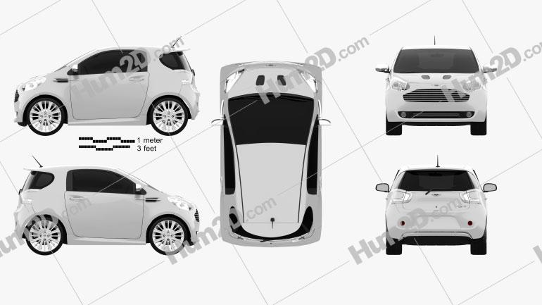 Aston Martin Cygnet 2012 Clipart Image