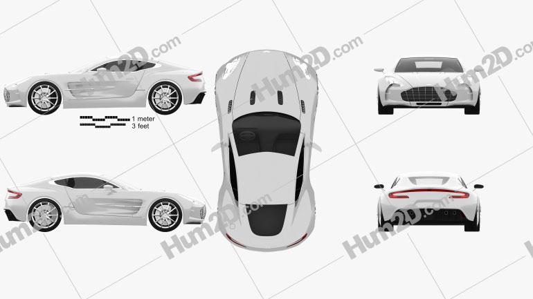 Aston Martin One-77 2010 car clipart