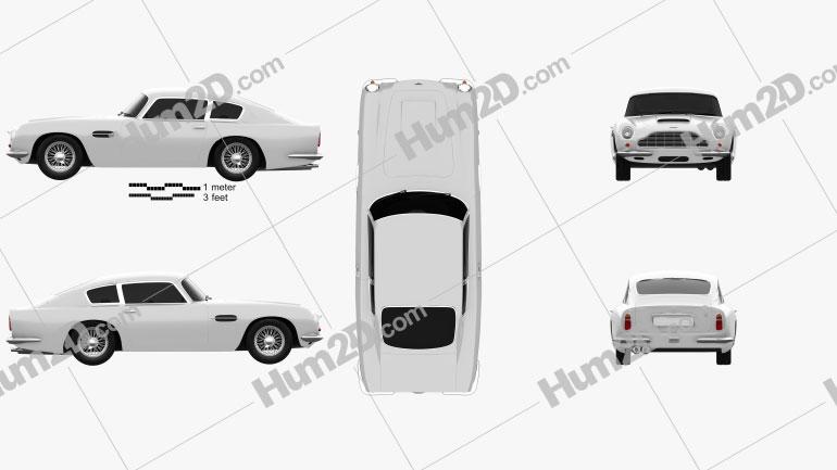 Aston Martin DB6 1965 car clipart