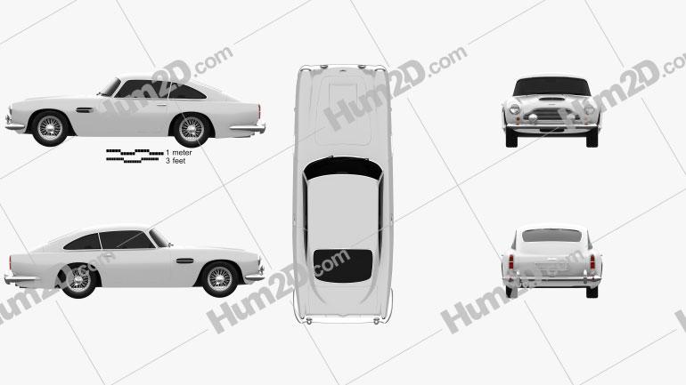 Aston Martin DB4 1958 Clipart Image