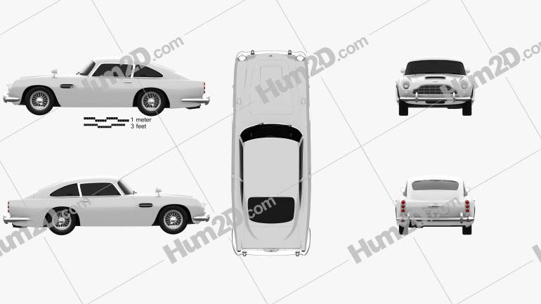 Aston Martin DB5 1963 Clipart Image