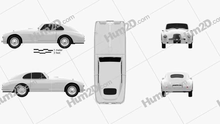 Aston Martin DB2 1950 car clipart