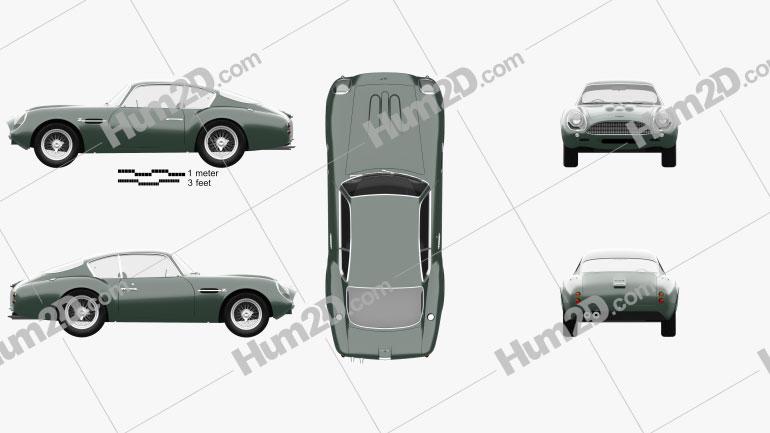 Aston Martin DB4 GT Zagato 1960 Clipart Image