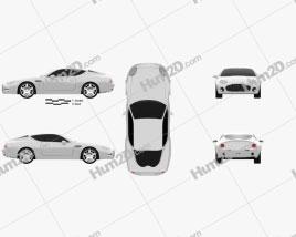 Aston Martin DB7 GT Zagato 2002 car clipart