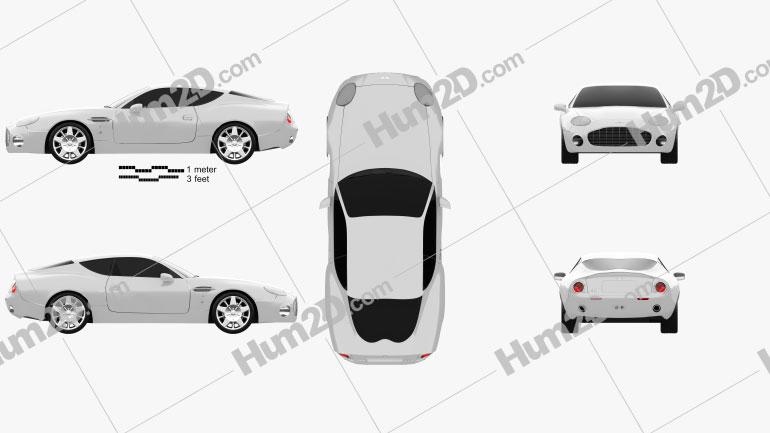 Aston Martin DB7 GT Zagato 2002 Clipart Image