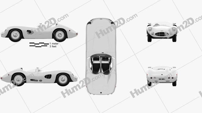Aston Martin DBR1 1957 Clipart Image